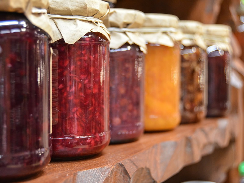 Home made winter fruit jams